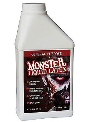 Monster Liquid Latex - 16oz Pint - Creates Monster / Zombie Skin and FX NEW