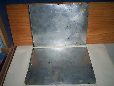 """Aluminum SAIL Canada Baking Cookie Sheets Pans Lot with 1 Edge : (15 x 11 3/4"""")"""