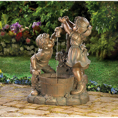 Children Fun and Play Water Fountain with Pump Garden Yard Deck Patio CLEARANCE