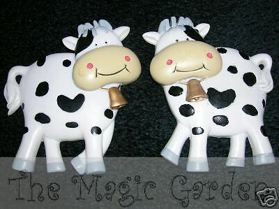 2 cute moo cows plaster craft latex moulds molds