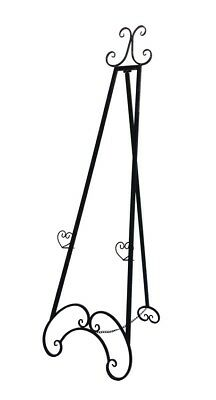 FRENCH EASEL Black Metal LARGE 1.54 mt high Wedding  or Corporate
