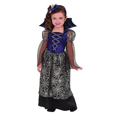Girls Miss Wicked Web Spiderweb Halloween Fancy Dress Costume Outfit