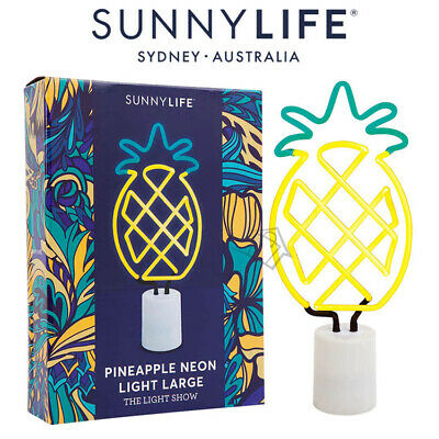 New SUNNYLIFE Pineapple LARGE Neon Light 42cm Retro Lighting Tropical Dimmer