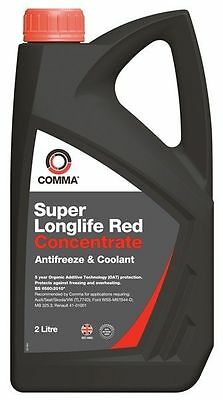 Comma Longlife  Red Antifreeze Coolant- 2 Litre