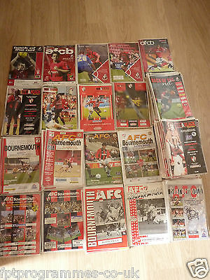 Bournemouth Home Programmes 1990/91 to 2009/10