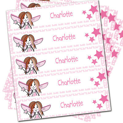 PERSONALISED Children's Iron On Clothes Labels - BACK TO SCHOOL - Fairy Design