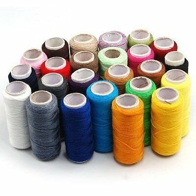 Thread Cotton Sewing Machine x24 Colour Yarn All Reel Spools Pure Line Quality