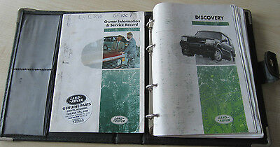 LAND ROVER DISCOVERY TDI 1995 Owners Manual Handbook & SERVICE BOOK Wallet Pack