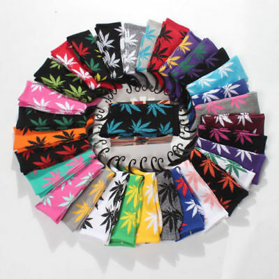 Unisex Womens Mens Marijuana Long Cotton Sport Weed Leaf Socks Ankle Sock Crew