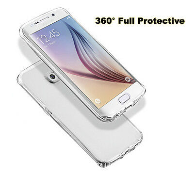Shockproof 360° Protective Clear Gel Case Cover For Samsung Galaxy Phones Uk