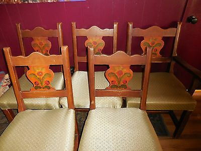Monterey Mission Dining Table & 5 Chairs Early 30's from Whittier, CA