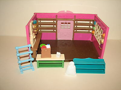 Calico Critters Lil' Woodzeez Bakery Shop Playset w Some Accessories Lot