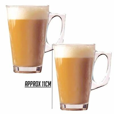 BRAND NEW Set of 2 Latte Glasses Cup/Mug for Tea Coffee Cappuccino Hot Drink