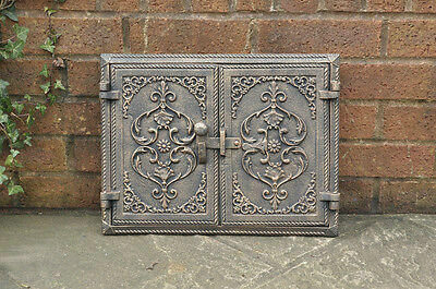 41.5 x 31.9 cm cast iron fire door clay/bread oven doors pizza smoke house
