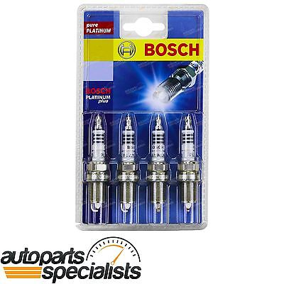 Set of 4 Bosch Spark Plugs for Mazda 323 BJ 4cyl FP 1.8L 1998 to 2003