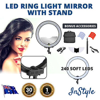 NEW DIMMABLE Soft Ring Light 49cms 240 LEDs 55W Phone Camera Lights Selfies