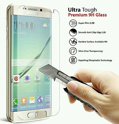 For SAMSUNG GALAXY S7 / S7 EDGE 2.5D Tempered Glass Screen Protector ☆ FREE CASE