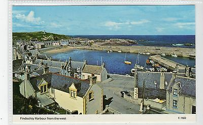 FINDOCHTY HARBOUR FROM THE WEST: Banffshire postcard (C21158)