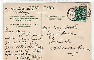 Picture postcard with a MILLOM (D01) duplex postmark (C21495)