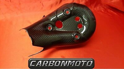 (ga) DUCATI PANIGALE 1199 EXHAUST HEAT SHIELD COVER NEW GLOSS CARBON FIBRE
