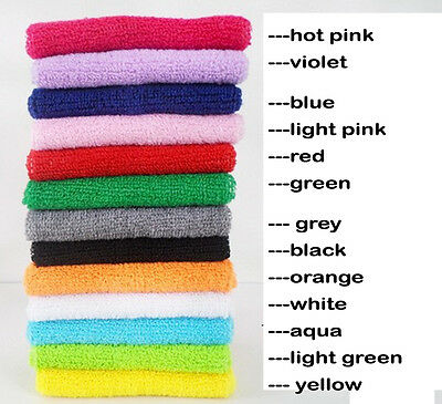 A pair Wristbands Wrist band Sweatbands Sweat Band for Sport Tennis Badminton 1