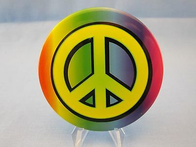 VINTAGE 1960's STYLE PINBACK ( PEACE SIGN ANTI WAR ) FLOWER HIPPIE, Pin, Button