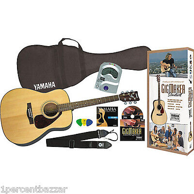 Yamaha Gigmaker Acoustic Guitar Pack with bag strings dvd tuner picks strap
