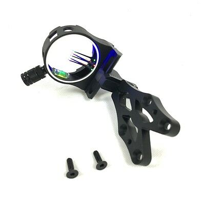 NEW Fibre Optic 5 Pin BOW SIGHT for Compound Bow with LED LIGHT Hunting Target