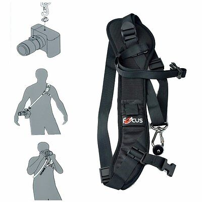 Focus F-1 Black Single Shoulder Sling Belt Strap for DSLR SLR Camera Quick Rapid