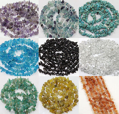 50Pcs Natural Stone Semi Precious Chip Drilled Tumble Beads Jewelry Making