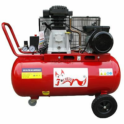 FoxHunter Air Compressor 90L Litre 3HP 8 BAR Electric 20 Gallon With Wheel New