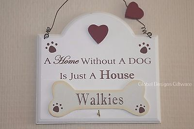 Dog Lead Keys Hook Walkies Bone Hook  A Home Without a Dog is Just  F1721cream