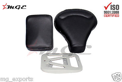 Vespa VBB VBA VNB 125 150 Front + Rear Seat + Plate BLACK HIGH QUALITY #SE004