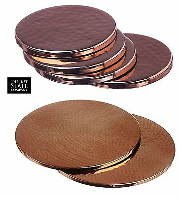 Just Slate Copper Dimple Set of 2 Placemats Trivets or Set of 4 Coasters