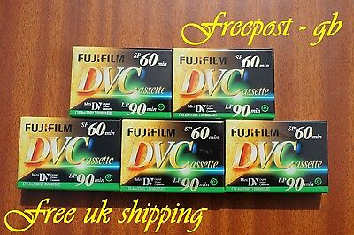 Fuji Dvm-60 Mini Dv Camcorder Tapes / Cassettes - Pack Of 5 - Brilliant Quality