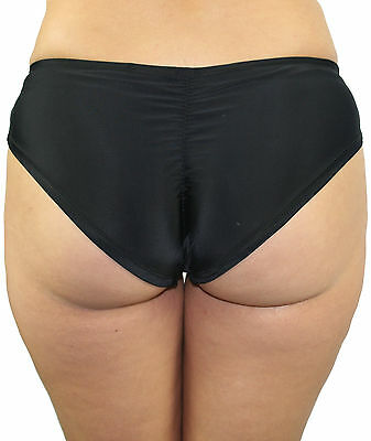 Ladies Black Spandex Brazil Hotpants Booty Shorts for Pole Dance, Roller Derby