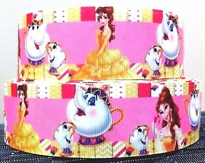 1 YARD Crafts 38mm wide BEAUTY /& THE BEAST GROSGRAIN RIBBON Cake Decoration