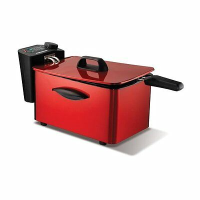 Morphy Richards 45083 3Ltr Deep Fat Fryer inTranslucent Red -New -2yrs Guarantee