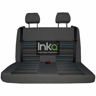 VW California Rear Double Bench Inka Tailored Lifestyle Seat Cover Dark Grey