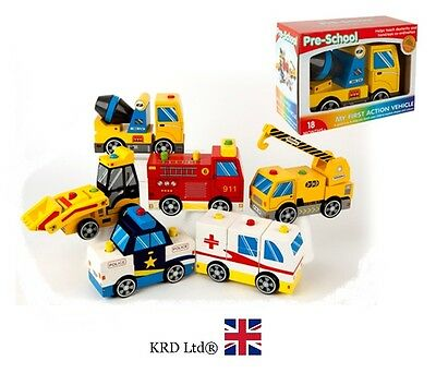 My First PULL ALONG VEHICLE Kids Child Toddler Toy Birthday Christmas Gift