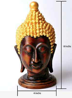 Buddha Head Statue Rasin Antique Home Decorative Sculpture