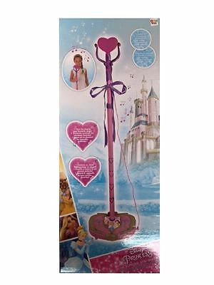 New Disney Princess Childrens Girls Microphone Toy With Stand Playset Age 3+