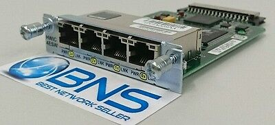 CISCO HWIC-4ESW 4Port Ethernet Switch Interface Card for 1841 2800 3800 Router