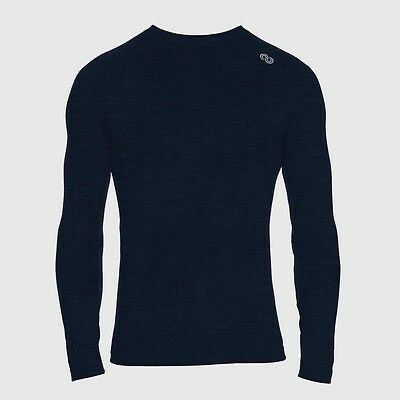 REDA Rewoolution Tommy - Mens T-Shirt Long Sleeve 140, peacock, Merinowolle