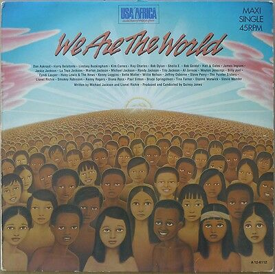 "12"" USA For Africa - We Are The World - Europa 1984 - VG++"