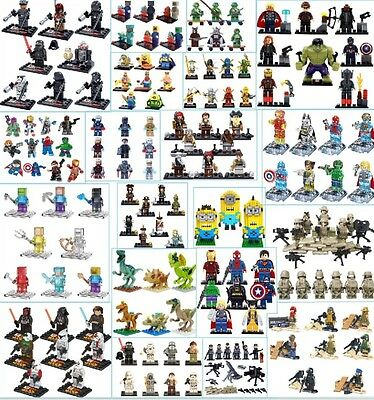 Mini figures *choose set* fit with Lego uk - brand new minifigure mixed sets ***