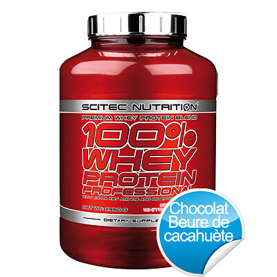 100% Whey Protein Professional - 2350 g - Chocolat  Beurre de cacahuètes