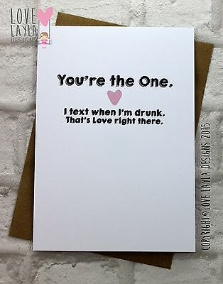 Greetings Card Birthday Card / Comedy/ Love Layla / Funny / Humour/ ONE
