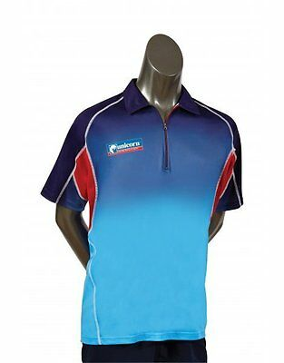 Unicorn Darts Pro Team Dart Polo Ribbed Zip Collar Breathable Polyester Shirt