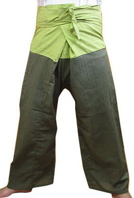 Unisex Thai Fisherman Pants Two Tone Color Yoga Trousers Free Size